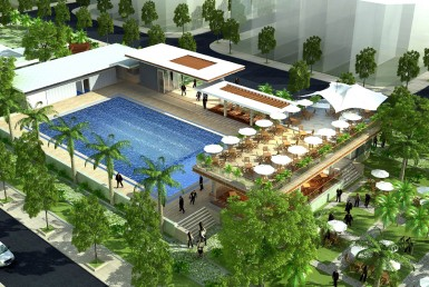 Hồ bơi khu dân cư thương mại, khu dan cu thuong mai Phước Thái