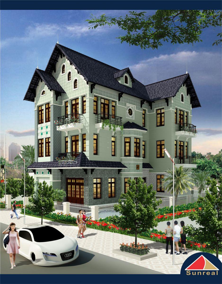 Mẫu nhà tại khu đô thị Bình Nguyên