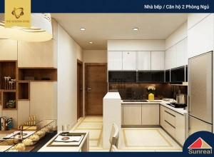 Nhà bếp căn hộ 2 phòng ngủ The Golden Star