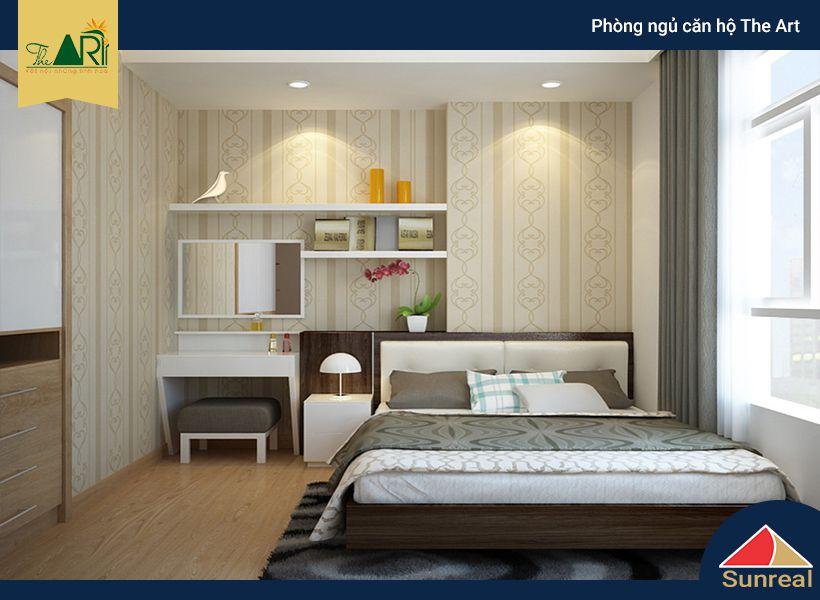 Phòng ngủ căn hộ The Art