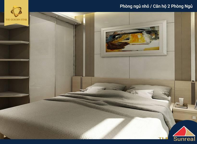 Phòng ngủ nhỏ căn hộ 2 phòng ngủ The Golden Star
