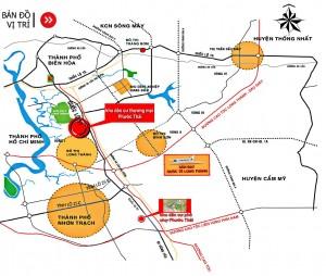 Sơ đồ vị trí khu dân cư thương mại, khu dan cu thuong mai Phước Thái