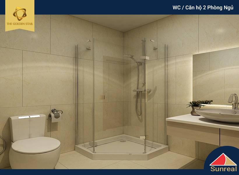 WC căn hộ 2 phòng ngủ The Golden Star
